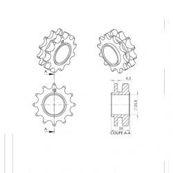 Pignon cyclo  adapt. mbk 51...
