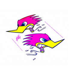 Autocollant duck (14x16cm)