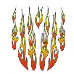 Autocollant flammes (20x24cm)