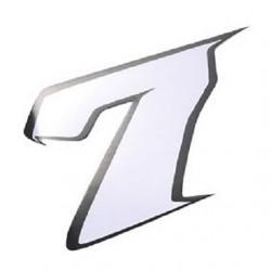 Autocollant numero 7 blanc l 9