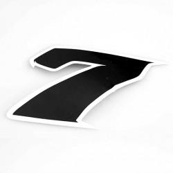 Autocollant numero 7 noir l 9