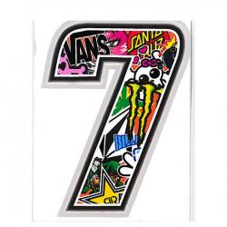 Autocollant numero 7...
