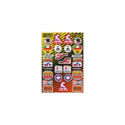 Planche stickers TECNOSEL...